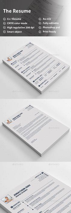 Resume Template PSD #design Download   graphicrivernet/item - resume download