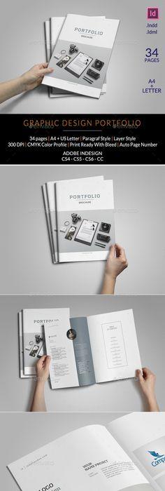 Portfolio Brochure Indesign Indesign Templates Brochures And Template