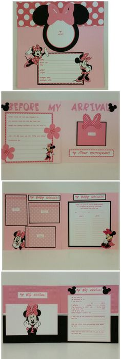 Minnie Mouse Baby Book Scrapbook Minnie Mouse Baby Book And