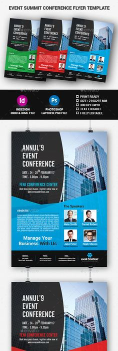 Event Summit Conference Flyer Photoshop, Flyer template and Template