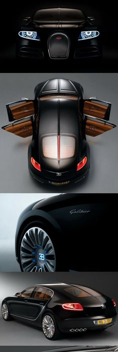 Bugatti 16C Galibier Concept In Black Photo Gallery