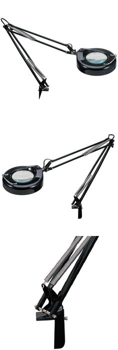"""Professional 2-in-1 Spring-Arm Magnifier Lamp - 5"""" Lens -"""