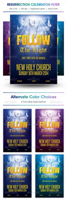 Creative Flyers Templates For Your Religious And Spiritual Event