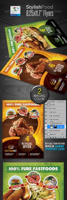 MultiPurpose Food Flyers  Flyer Template Food Logos And Template