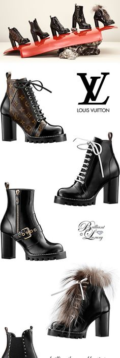 Combat Boots | Brilliant Luxury ♢ Louis Vuitton Star Trail Boots Collection  FW 2017