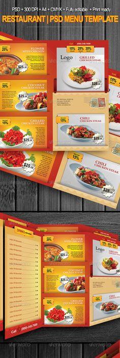 Food Menu Bundle with Business Card | Food menu, Food menu template ...