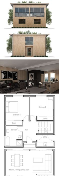 Small House to tiny lot with three bedrooms Roof top terrace Floor - plan d une belle maison