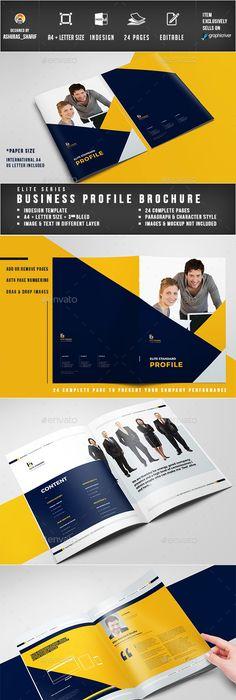 Modern Company Profile  Company Profile Print Templates And