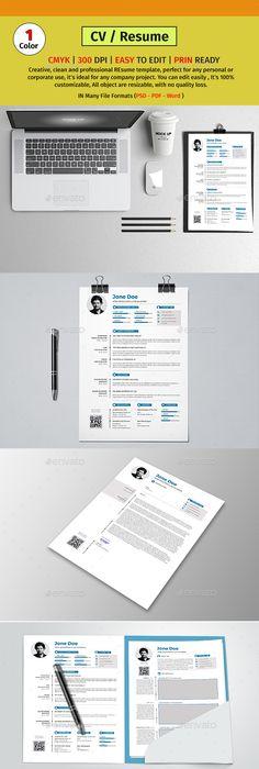 Simple Resume Exampleprin Set Of Modern Resumes  Modern Resume Creative Resume Templates And .