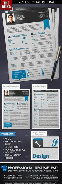 Resume  Cv  Cover Letter Set  By BoxedcreativeDeviantartCom