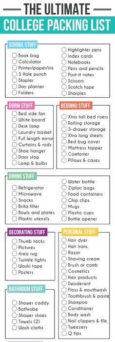 College Dorm Checklist For Suite Style Dorm Living From My