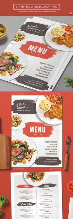 Simple Style A Poster Menu  Menu Templates Menu And Template