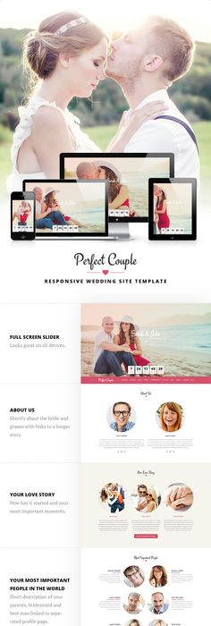 Download and review of Perfect Couple - Wedding WordPress Theme, one ...