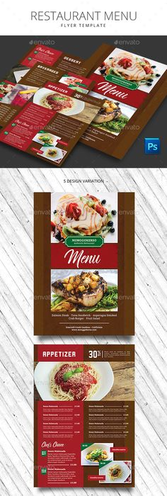 Vegetarian Restaurant Food Menu Graphicriver   EditOrial