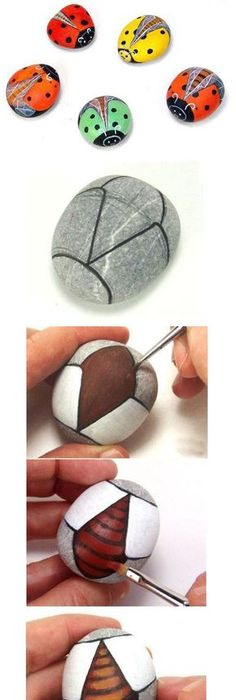 50 best painted rocks ideas weapon to wreck your boring time rock great how to on ladybugs and how to paint them on rock fandeluxe Choice Image