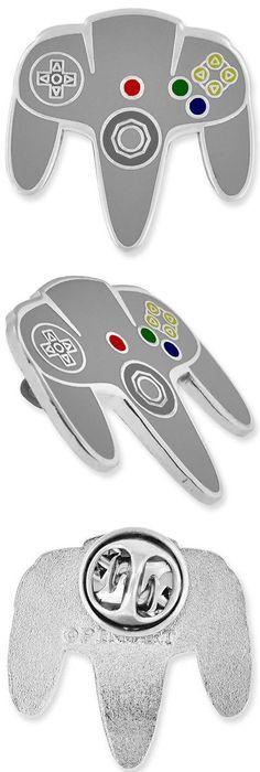 Delightful Pins And Brooches 50677: Pinmart S Original Nintendo N64 Controller Gaming Enamel  Lapel Pin