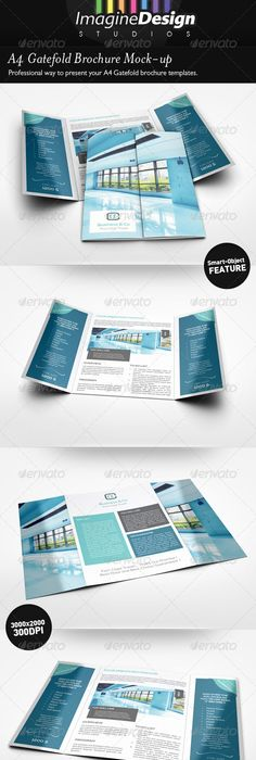 This Is One Of The Most Common Sizes For Gate Fold Brochure 85 X