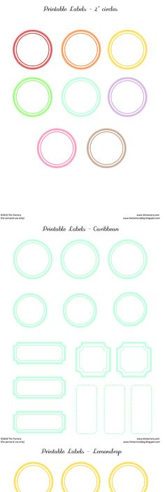 Free A Sheet Of Blank Printable Vintage Labels Repinned By Urban