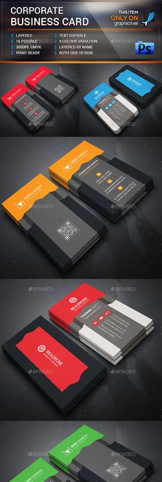 Creative corporate business card template design download http creative corporate business card template design download httpgraphicriveritemcreative corporate business card12611120refksioks pinterest reheart Images