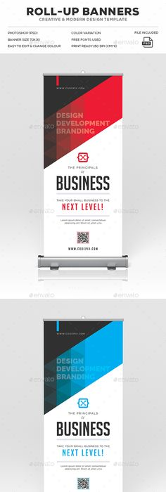 Corporate Business Roll-Up Banner | Rollup banner, Corporate ...