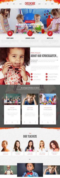 Children Art School Website Template | Metro style, Website and Ui ux