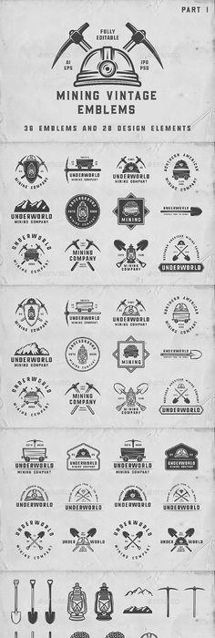 Vintage Baseball Emblems   Badge logo, Design elements and Logos