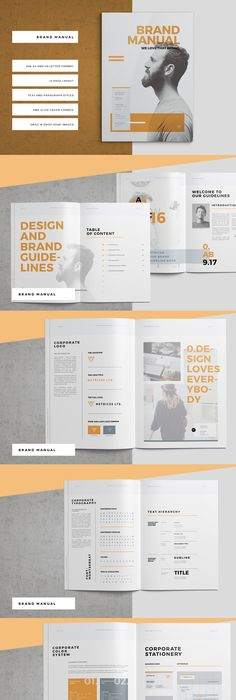 Brand Manual  Brand Manual Corporate Brochure And Template