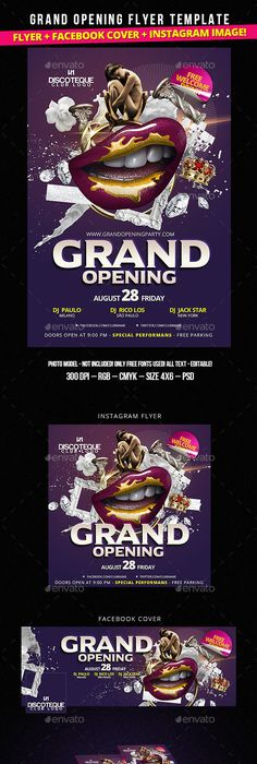 New Store Grand Opening Flyer  Grand Opening Minimal And Photoshop