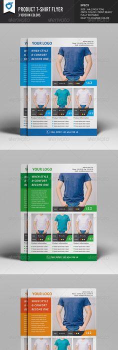 TShirt Flyer Templates  Flyer Template Template And Brochures