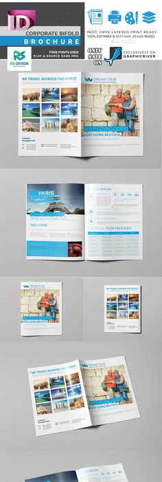 Travel Brochure Design I Like The Picture Reel Going Across All
