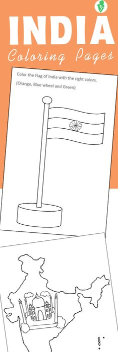 Printable India flag coloring page. Free PDF download at http ...