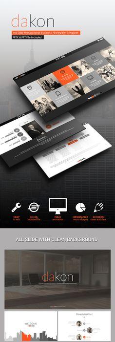 Volcano Yellow Marketing Powerpoint Template — Powerpoint PPTX ...