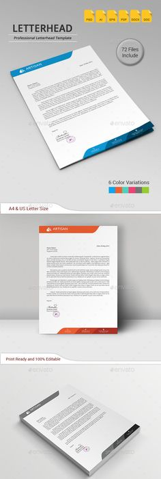 Creative Letterhead Template Modern Business Letterhead Stationery
