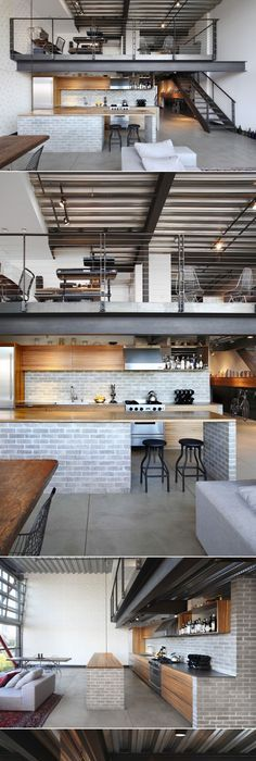 Industrial loft by shed architecture design homeadore created via http