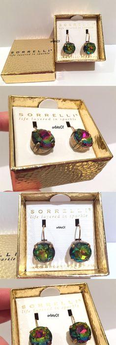 Earrings Marchesa Women S Gold Crystal Drop Earrings $98