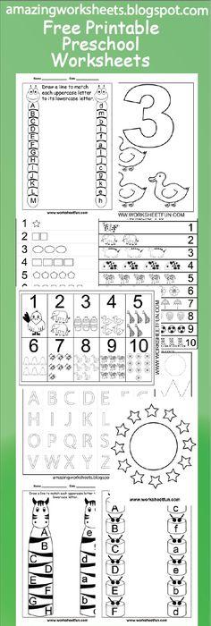 4 Year Old Worksheets Printable | Activity Shelter | Kids ...