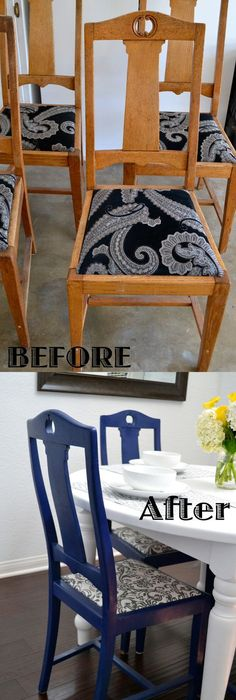 recover dining chair 10.jpg | House Ideas | Pinterest | Recover ...