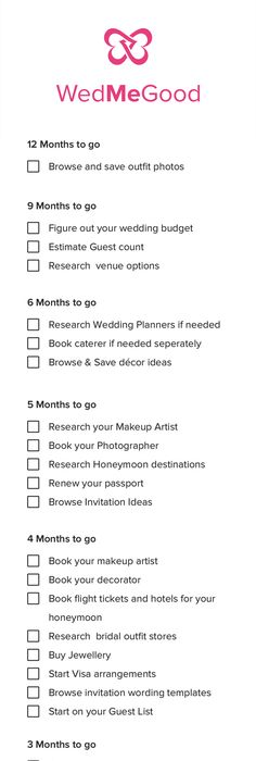 What To Do When Your Wedding Checklist  Wedding Checklist