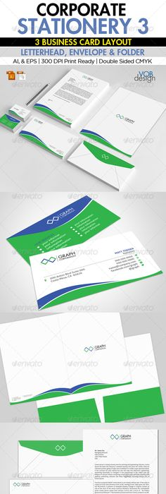 Corporate stationery 1 business cards fonts and print templates corporate stationery 3 graphicriver this corporate stationery is creative and clean design effective in color reheart Image collections