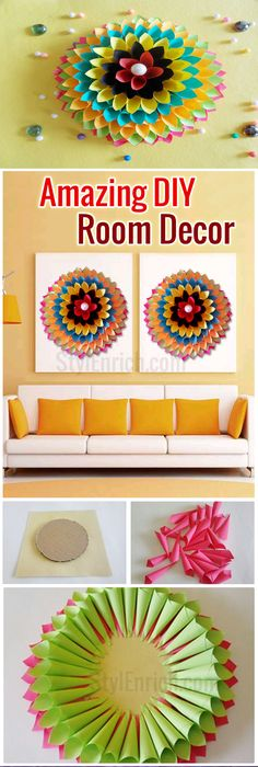 DIY Projects for Home Decoration : How to Make Wall Decor from ...