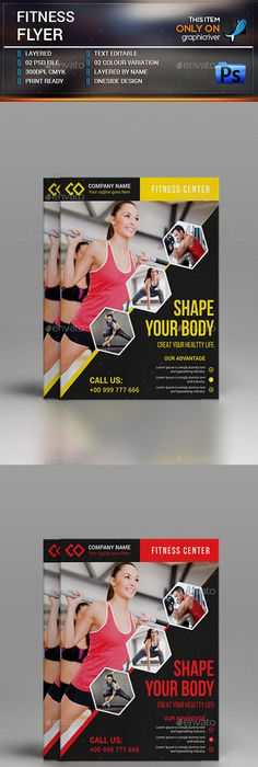 Sport  Fitness Flyer Vol07 Flyer template, Template and Event flyers