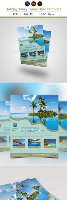 Holiday Travel Flyers Bundle  Flyer Template Template And Brochures