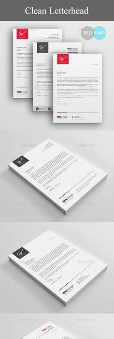 Corporate Letterhead  Letterhead Template Template And