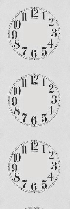 Free Printable Clock Faces  Free Apr   Other Software Like