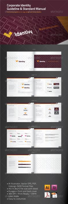 Manual Design Templates Brand Manual Template #design Buy Now Httpgraphicriveritem .