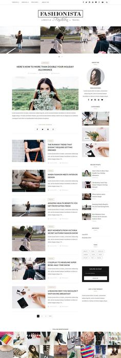 Blogger Template: \'Style and Light\' | Minimal style, Blog designs ...