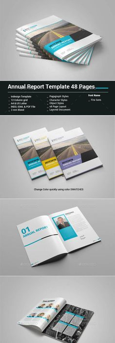 Simple Annual Report Template | Annual reports, Template and Brochures