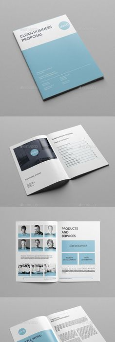 Product Sales Proposal Template Sleman Clean Proposal Template Volume 6  Proposal Templates .