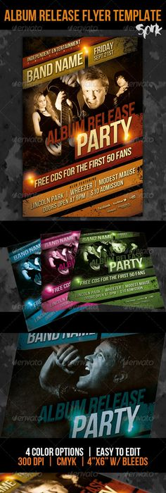 Paris Nights Party Flyer Template  Party Flyer Flyer Template