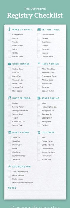 Your Essential Wedding Registry Checklist  Wedding Registry List